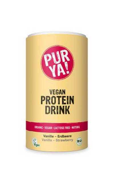 Vegan Proteindrink Vanille Erdbeer Bio
