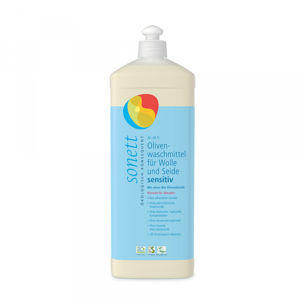 Olivenwaschmittel für Wolle und Seide sensitiv
