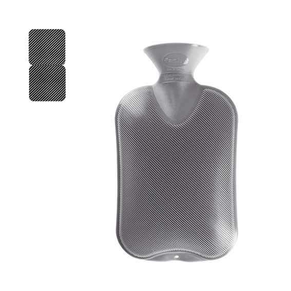 Wärmeflasche Doppellamelle anthrazit