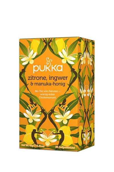 Zitrone, Ingwer & Manuka-Honig Tee