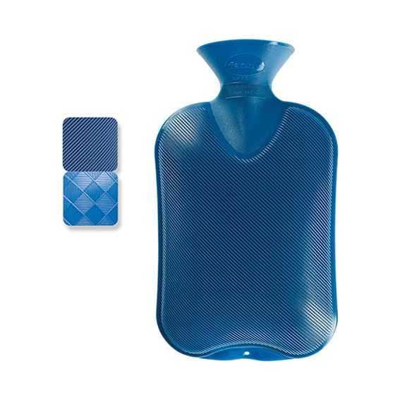 Wärmeflasche Halblamelle saphirblau