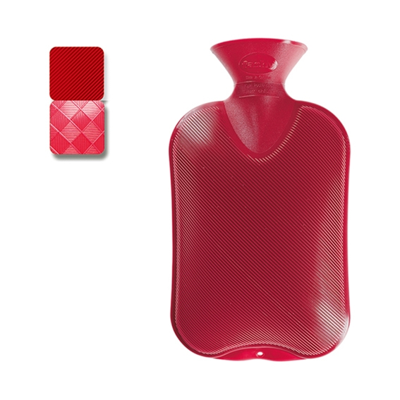 Wärmeflasche Halblamelle cranberry